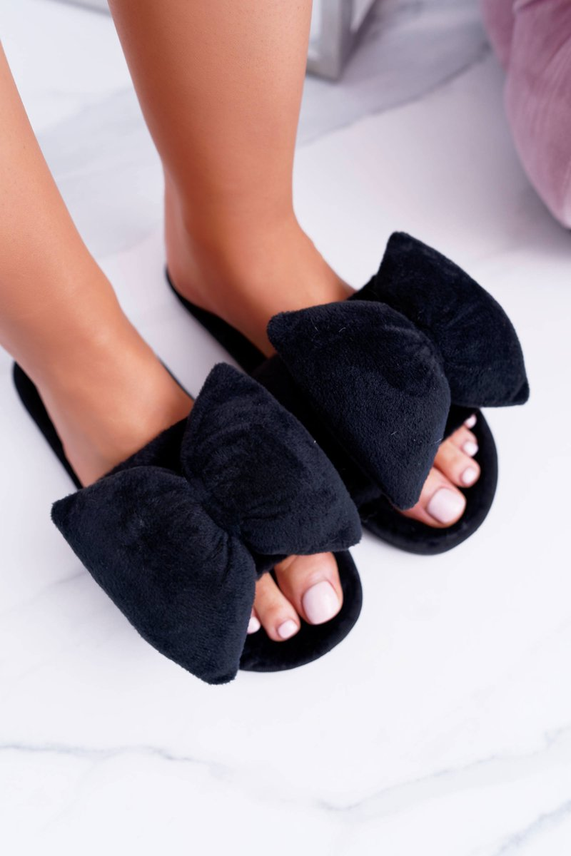 Black Women Flip-flops Lu Boo Big Bows Floppy