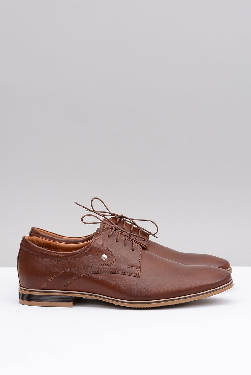 Brown Elegant Leather Shoes Refugio