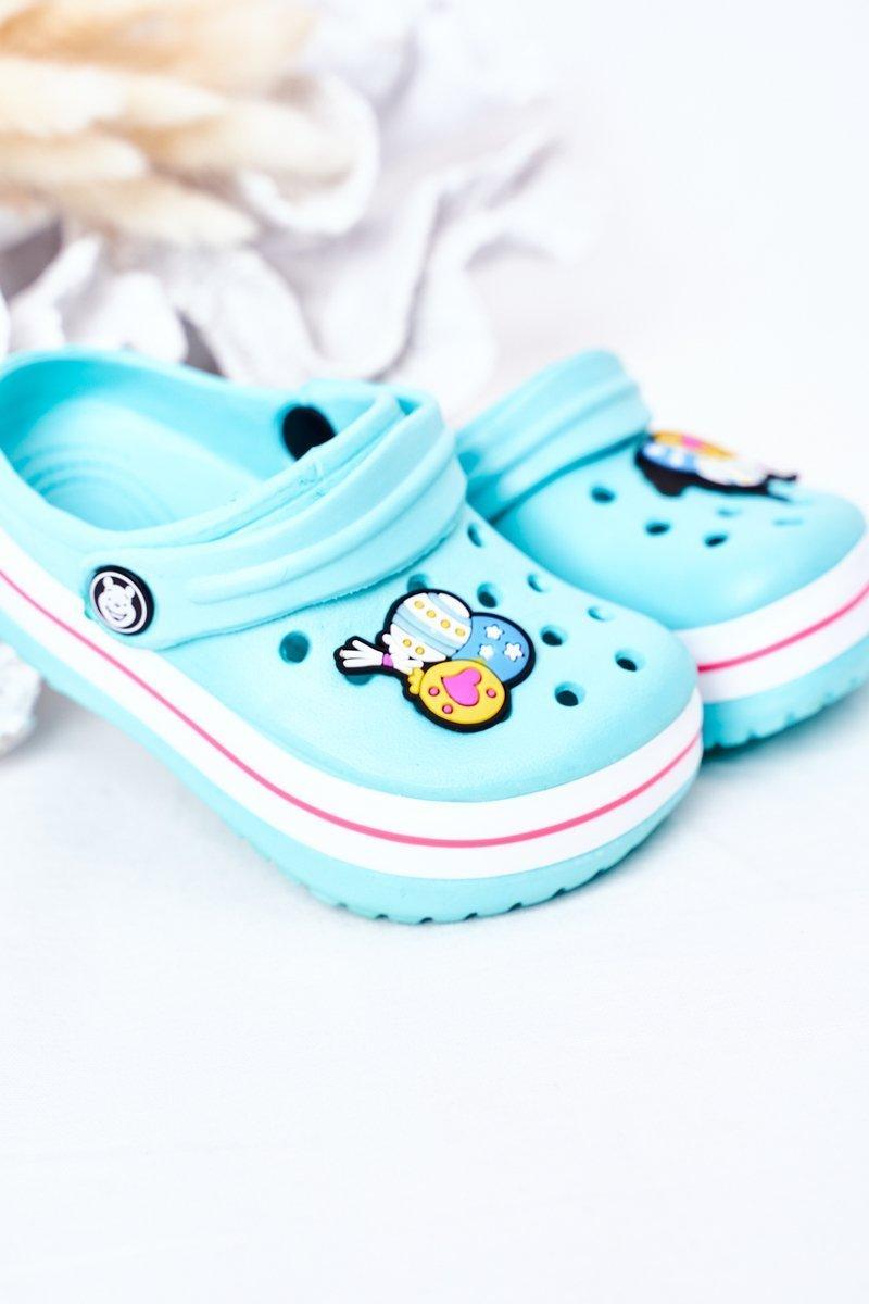 Children's Foam Slippers Crocs Green-Pink Lazy Day