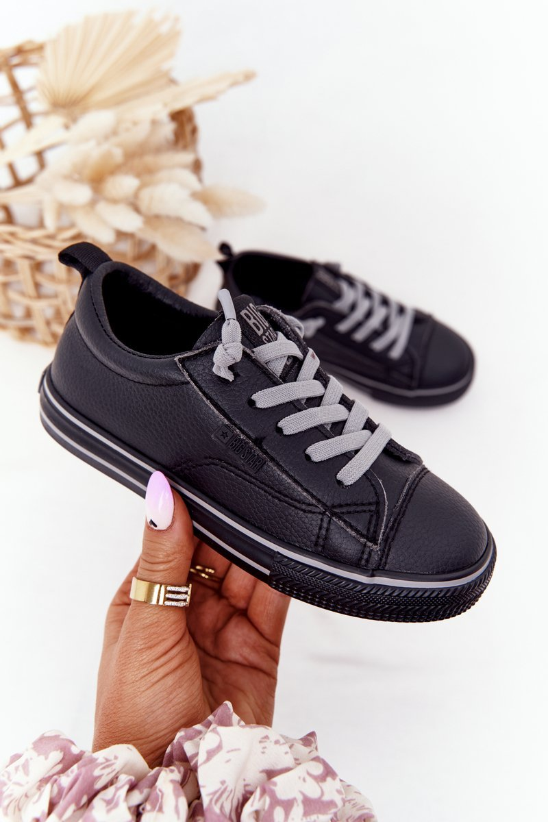 Children's Leather Sneakers BIG STAR HH374038 Black
