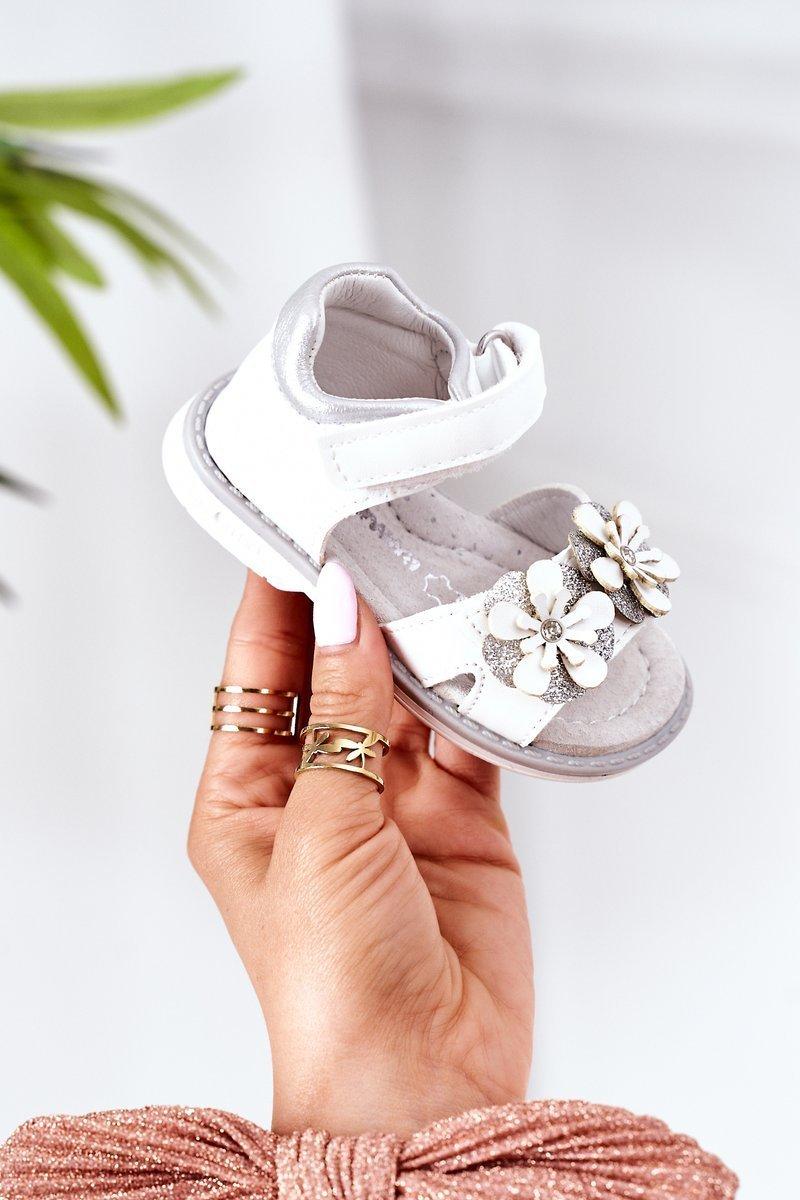 Children's Orthopedic Velcro Sandals White Maysa