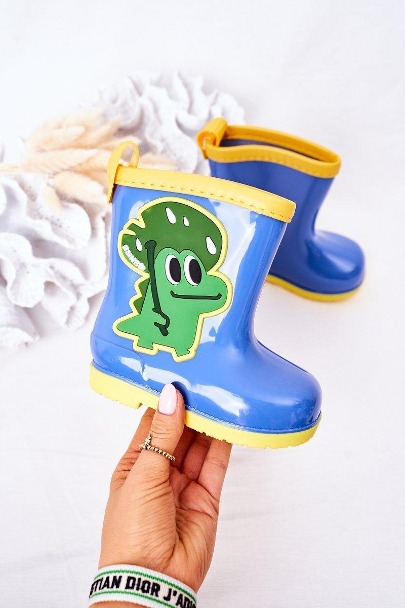 Children's Rain Boots With A Crocodile Blue
