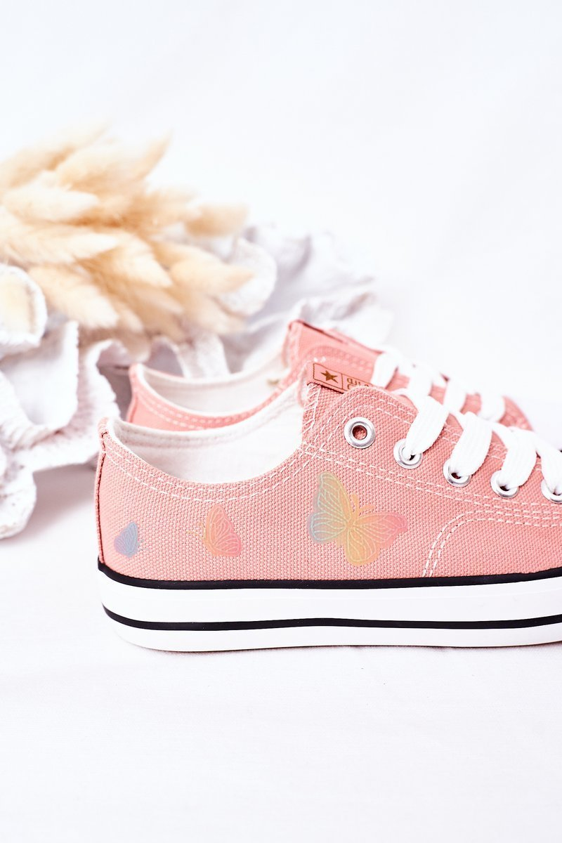 Children's Sneakers With Butterflies Pink Fairytale
