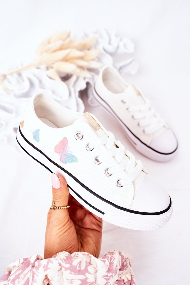 Children's Sneakers With Butterflies White Fairytale