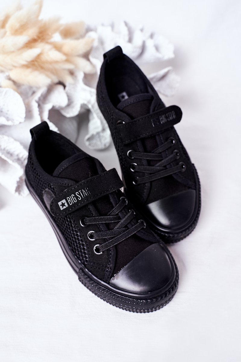 Children's Sneakers With Mesh BIG STAR HH374015 Black