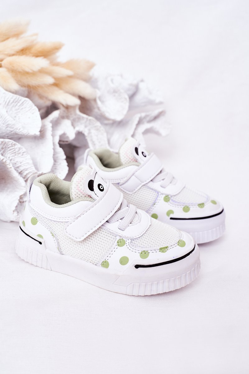 Children's Sport Shoes With Panda White-Green Chico