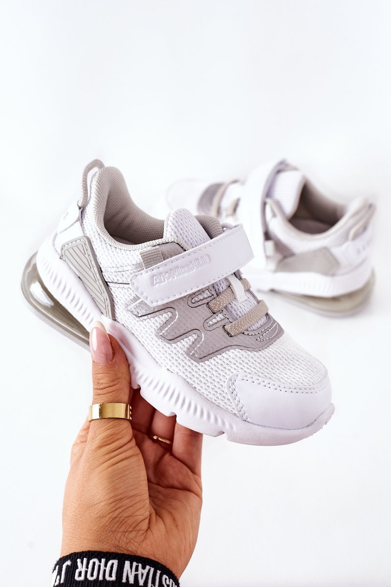Children's Sport Shoes With Velcro ABCKIDS White-Silver