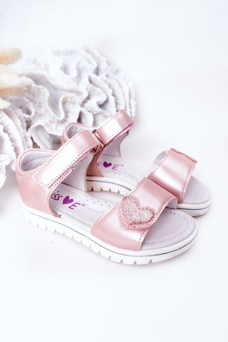 Children's Velcro Sandals Pink Sweetheart
