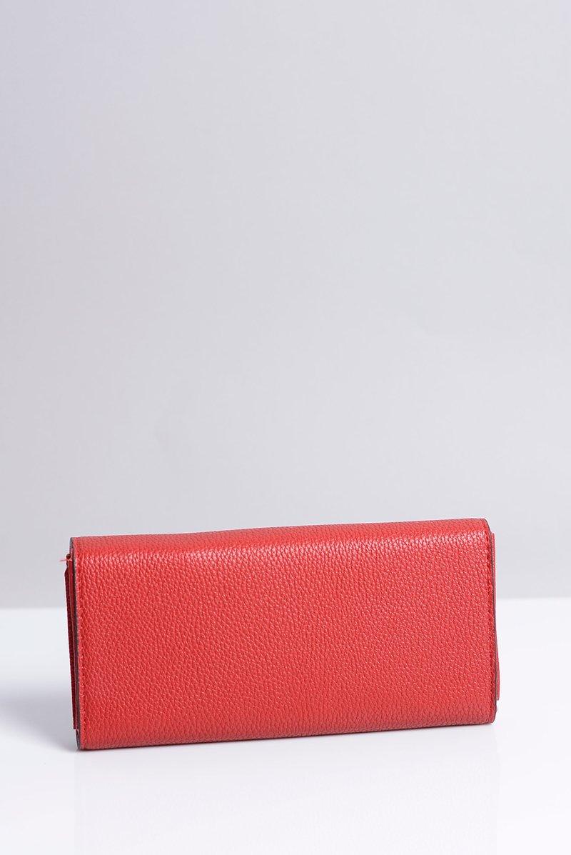 Duży Damski Czerwony Portfel