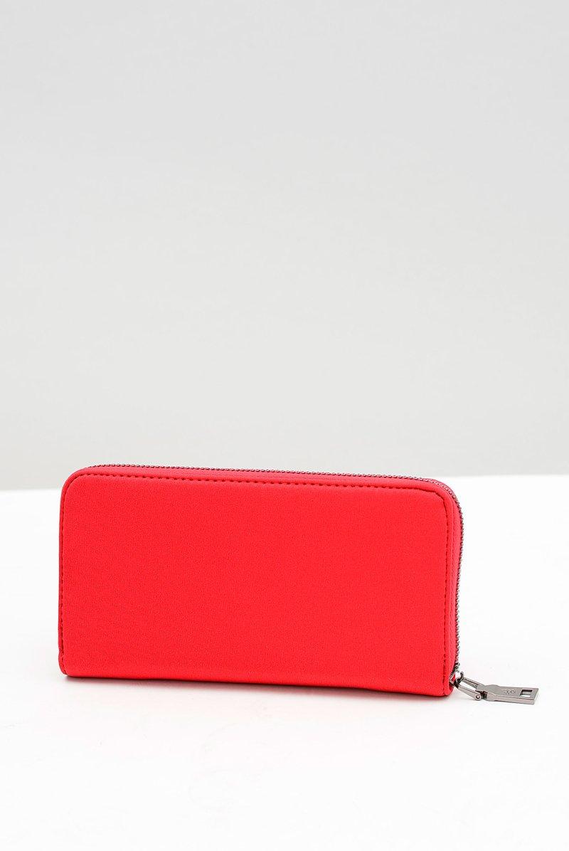 Duży Damski Czerwony Portfel DIANA&CO