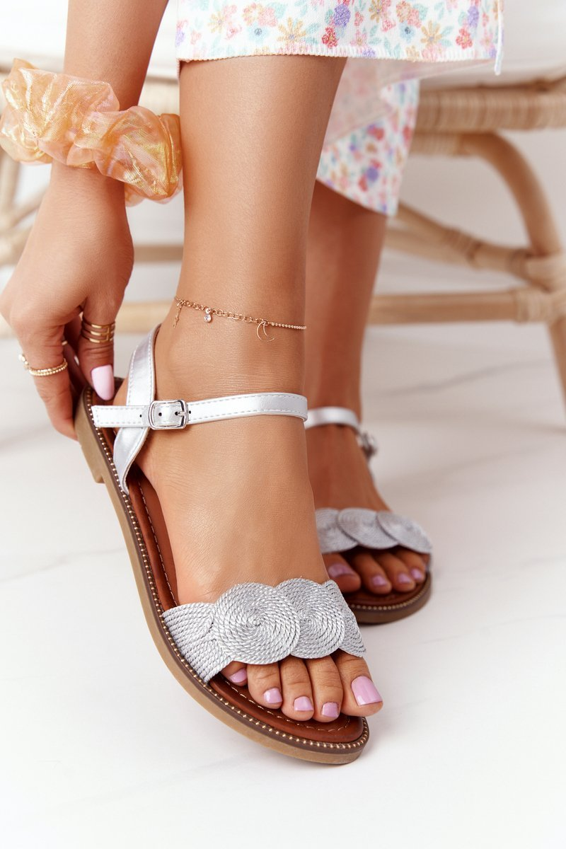 Elegant Sandals S.Barski GD-53 Silver