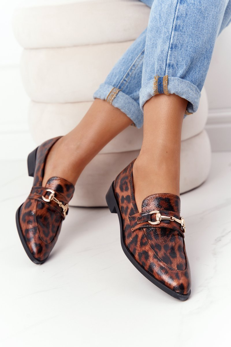 Elegant Women's Loafers S.Barski Leopard