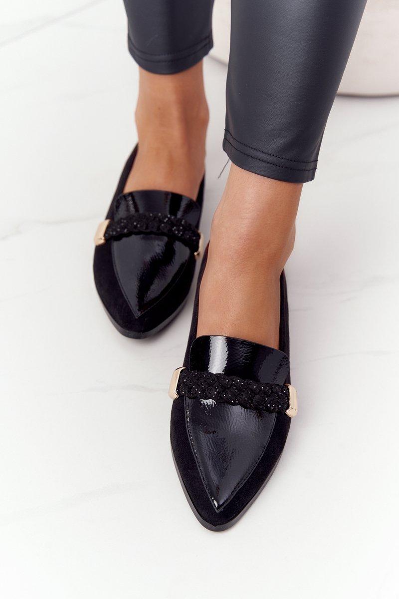Elegant Women's Loafers S.Barski Premium Suede Black
