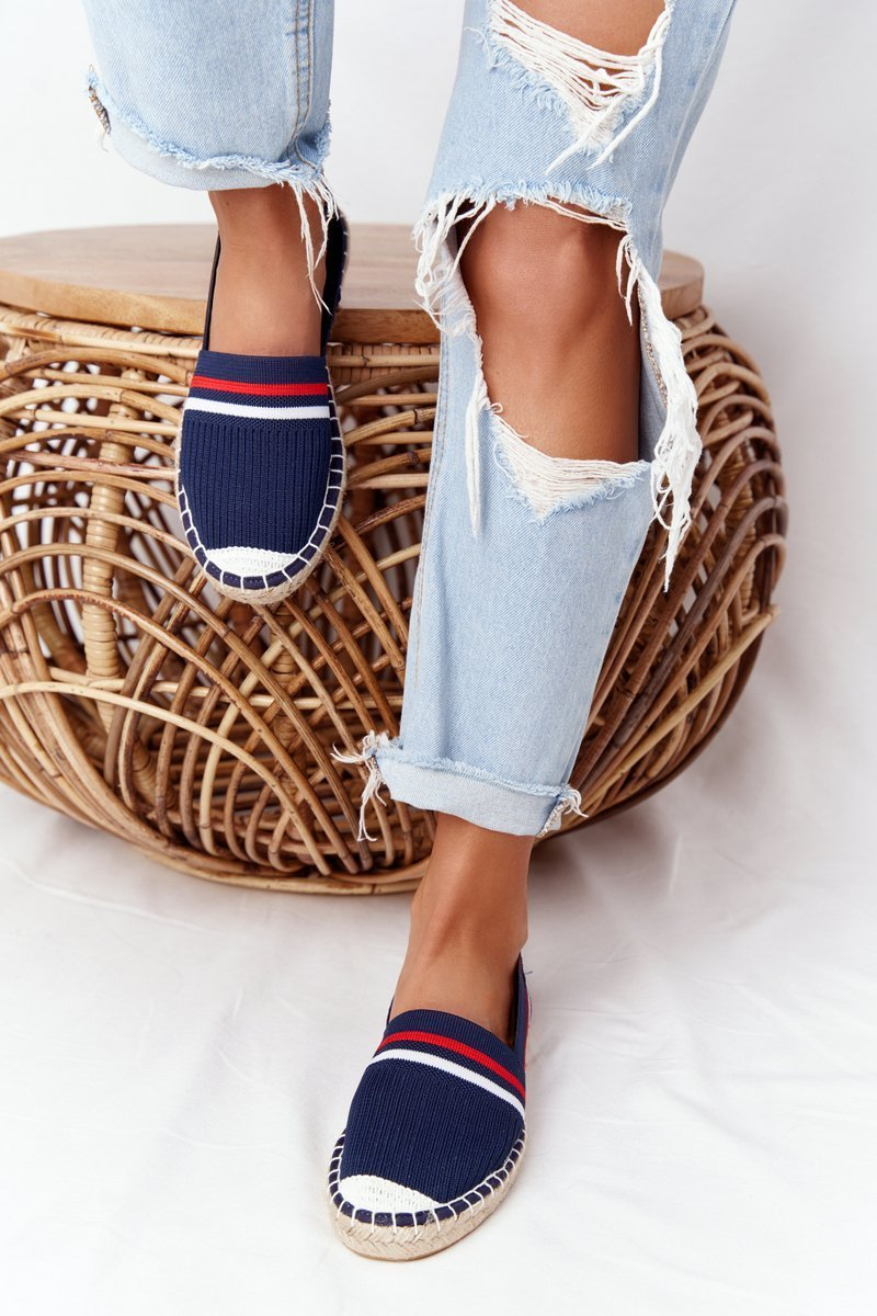 Espadrilles On A Braided Sole Big Star HH274483 Navy Blue