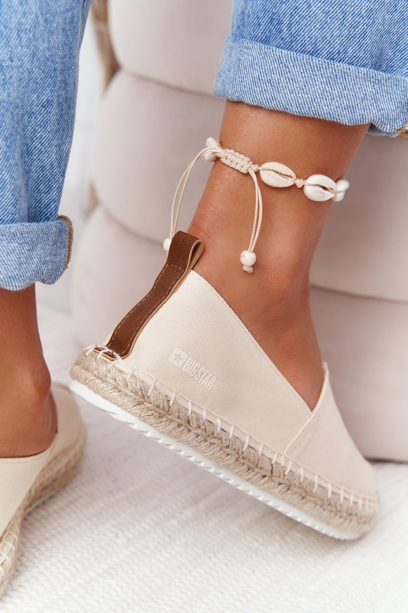 Espadrilles On A Braided Sole Big Star HH274501 Beige