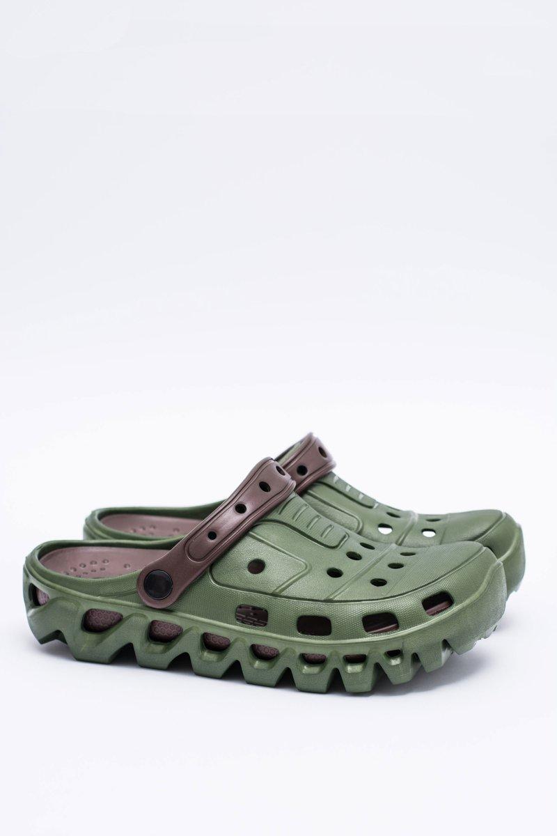 Green Men Garden Flip-flops Flameshoes A-1007