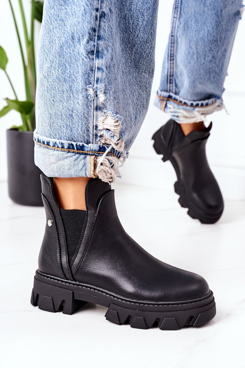 Insulated Chelsea Boots Black Hashtag