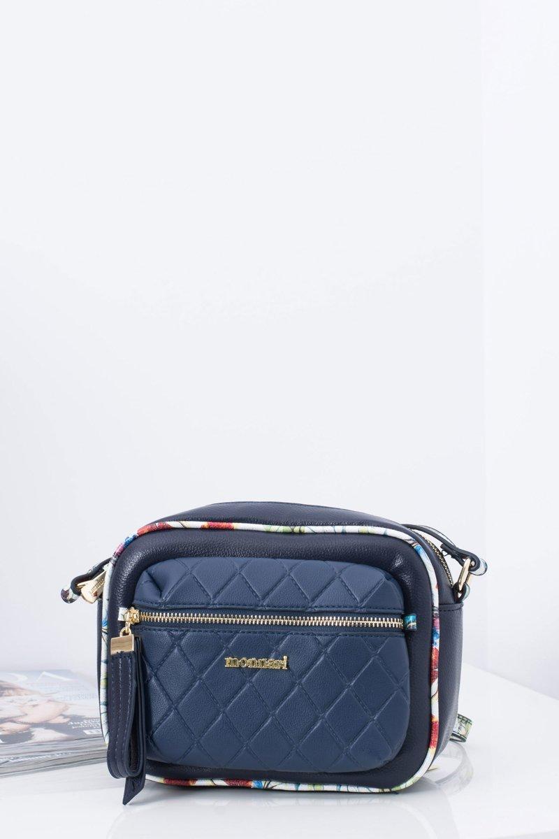 Ladies Handbag Quilted Navy Blue Bag
