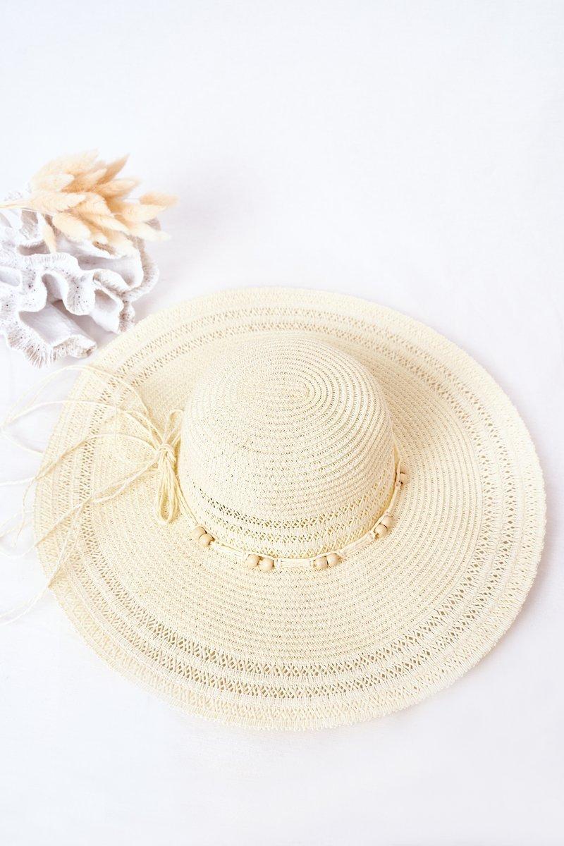 Large-Brimmed Straw Hat BRUNO ROSSI Ecru