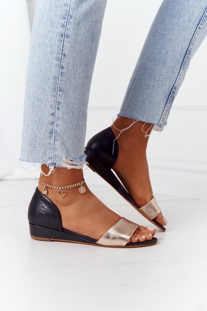 Leather Sandals Maciejka 1971-46 Black Gold