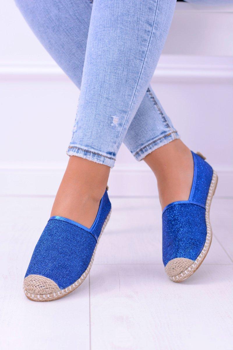 Lu Boo Blue Women Espadrilles Slip On Brocade Miravet