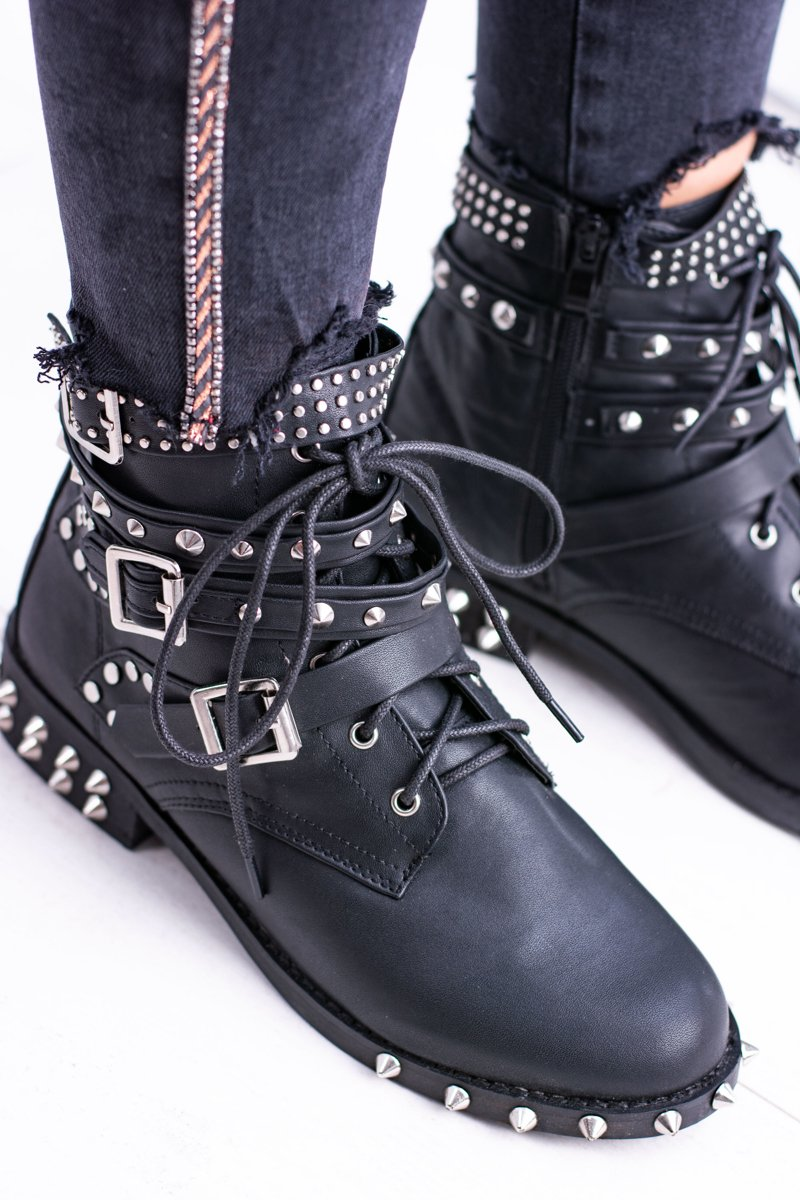 Lu Boo Women's Ankle Boots With Studs Rock Verona