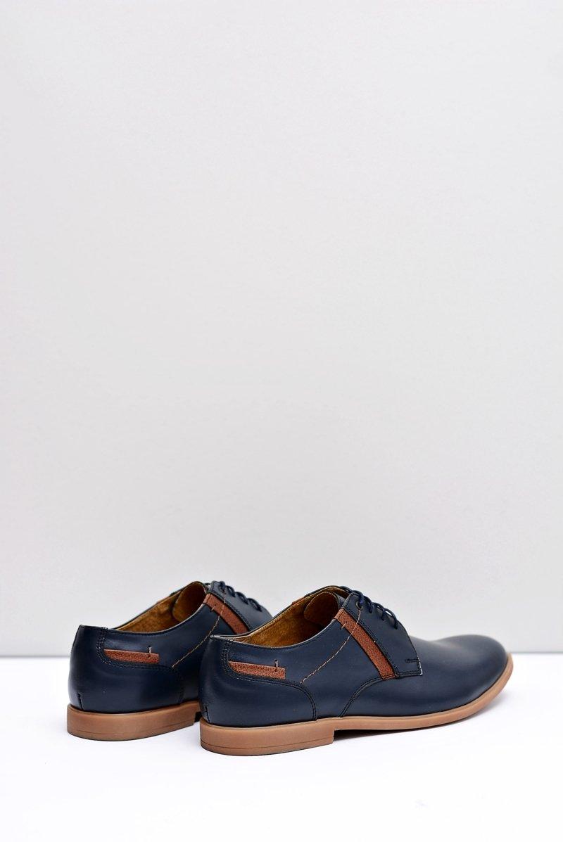 Men's Brogues Bednarek Leather Navy Blue Millo