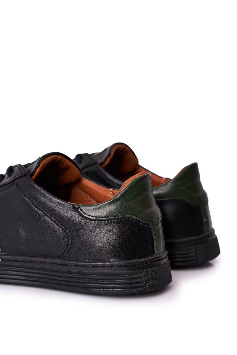 Men's Leather Shoes Trainers BEDNAREK Black