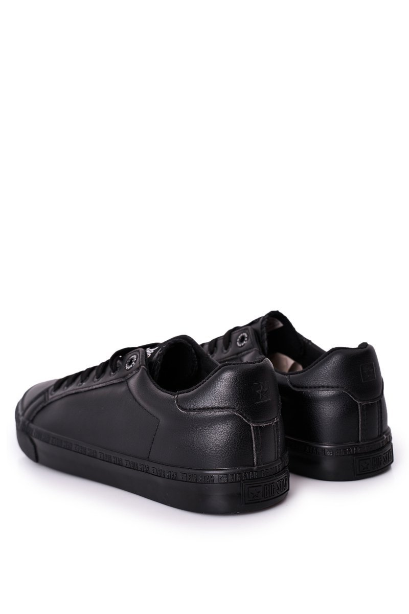 Men's Leather Sneakers Big Star HH174035 Black