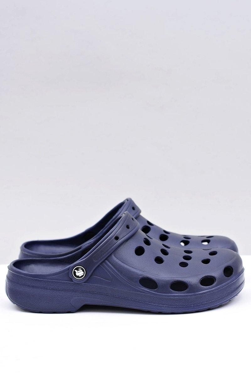 Men's Slides Sandals Crocs Navy Blue
