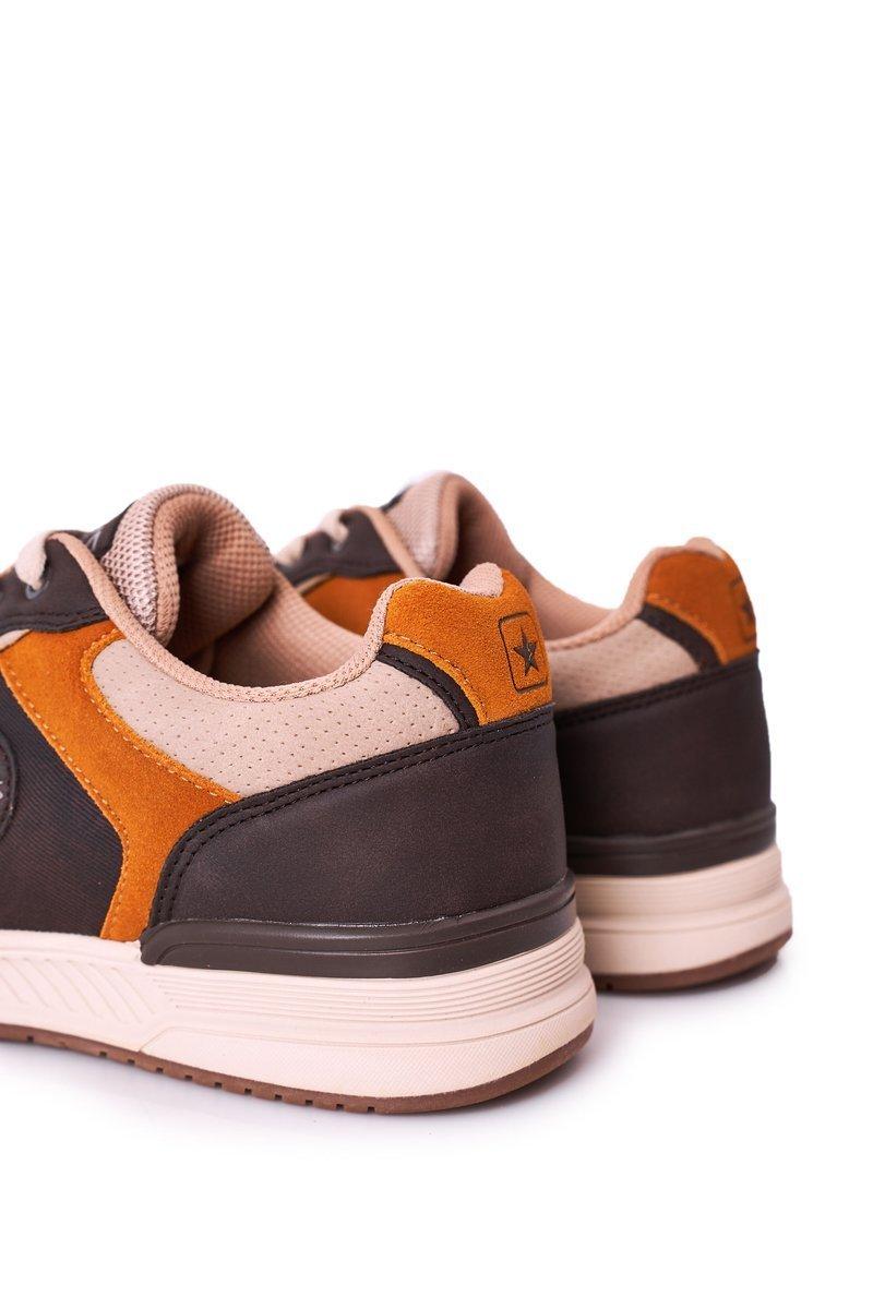 Men's Sports Shoes Sneakers Yellow-Brown Harold