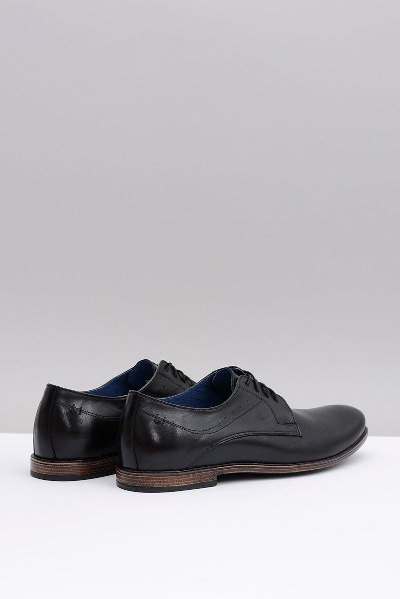 Nikopol Black Leather Brogues Mens Shoes James