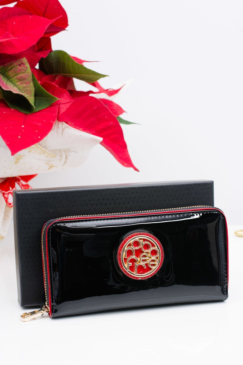 Nobo Black Lacquered Wallet