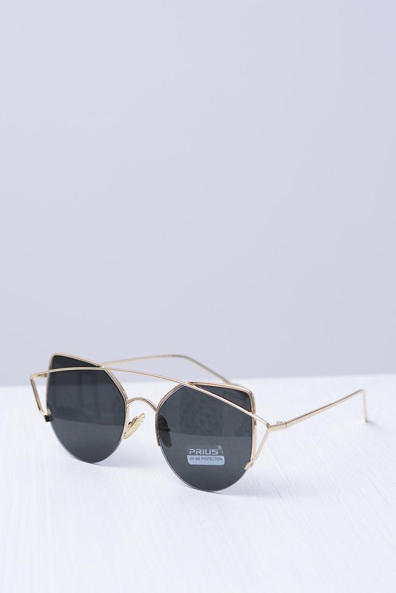 Okulary Mirrored PRE-01 Złote