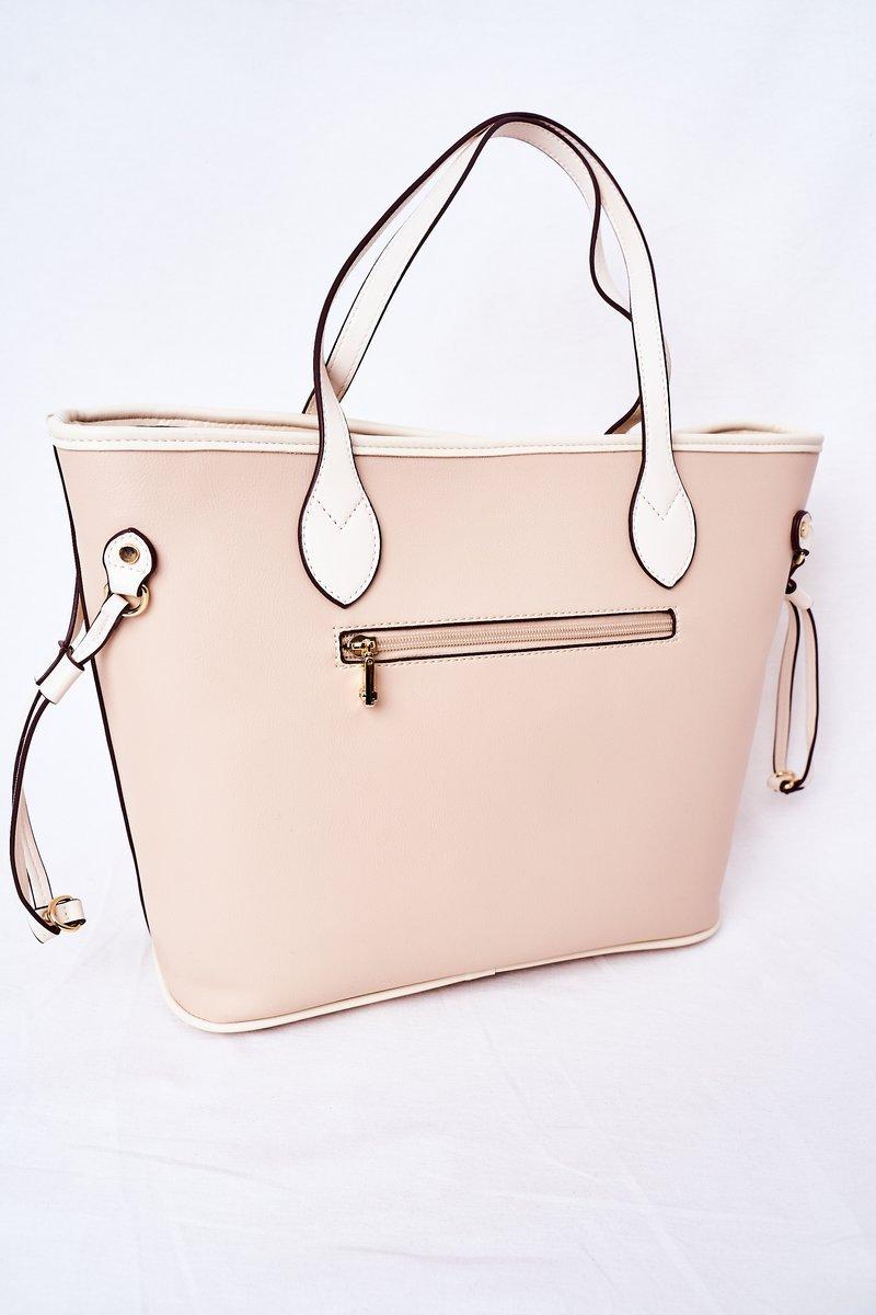 Openwork Shopper Shoulder Bag NOBO K3160 Beige