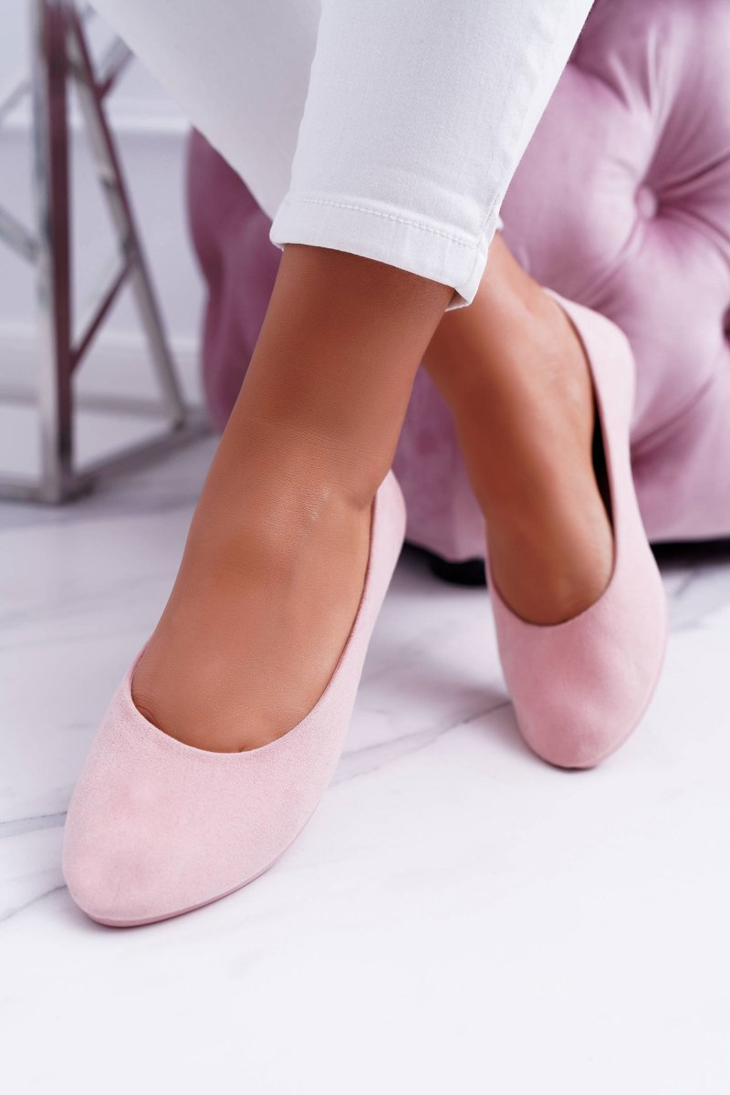 Pink Women's Suede Ballet Buenos