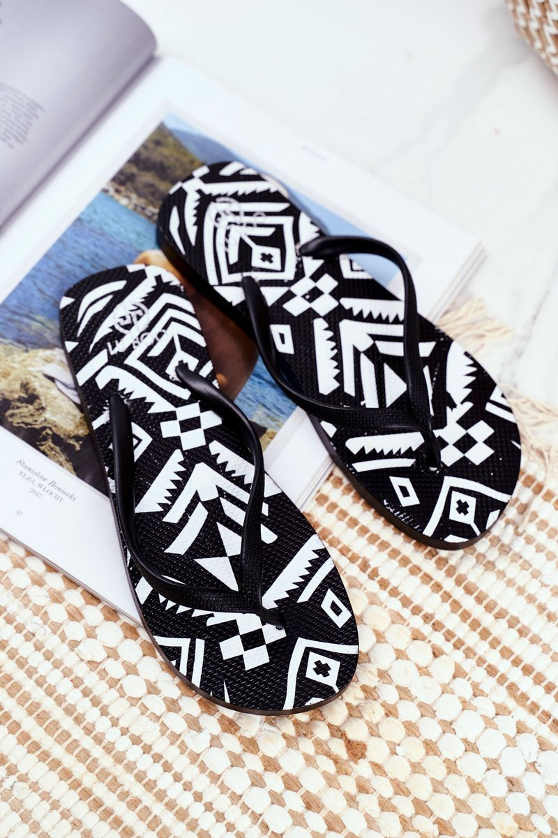 Rubber Flip-flops Lu Boo Black
