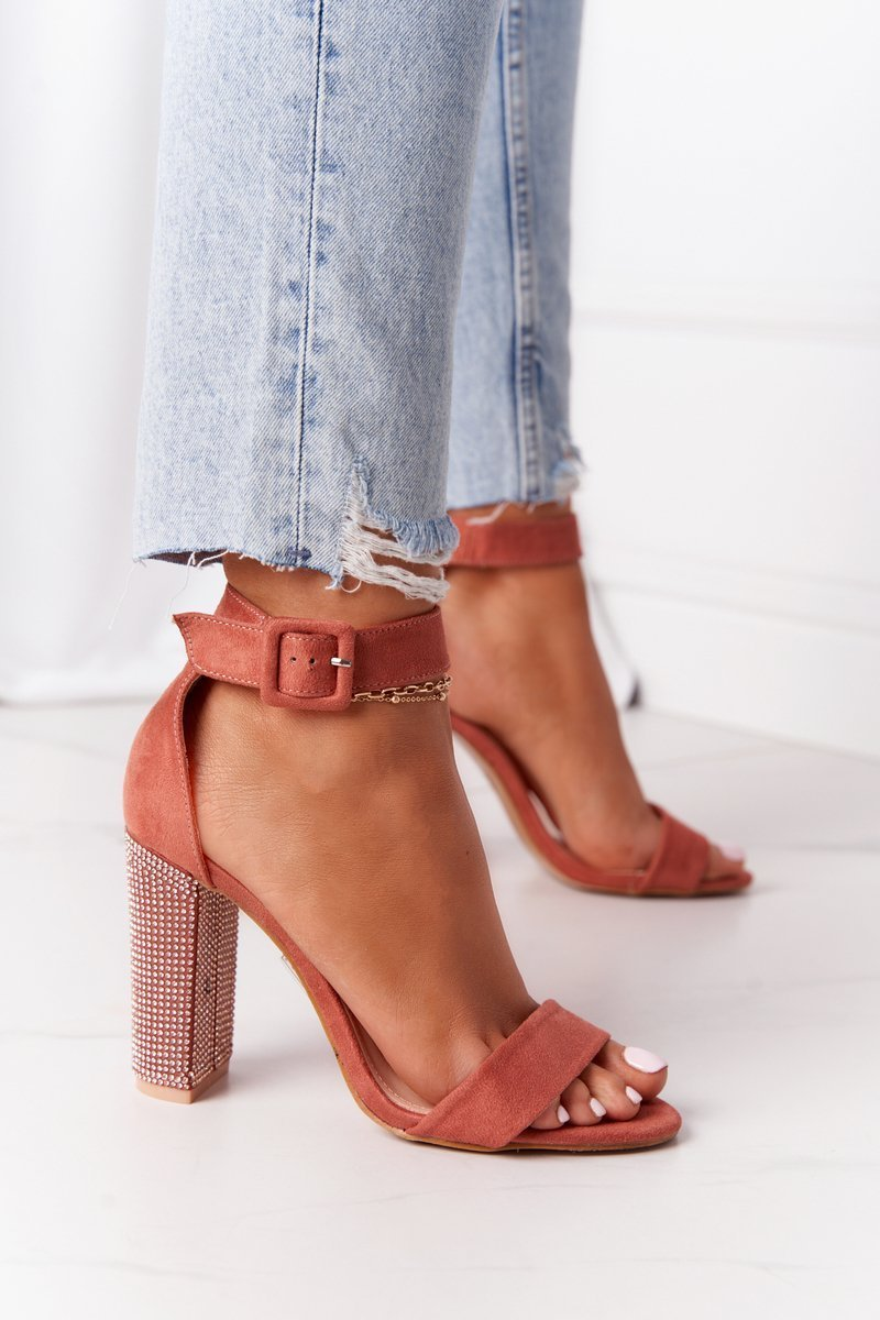 Sandals On A Bar With Cubic Zirconia Lu Boo Brick