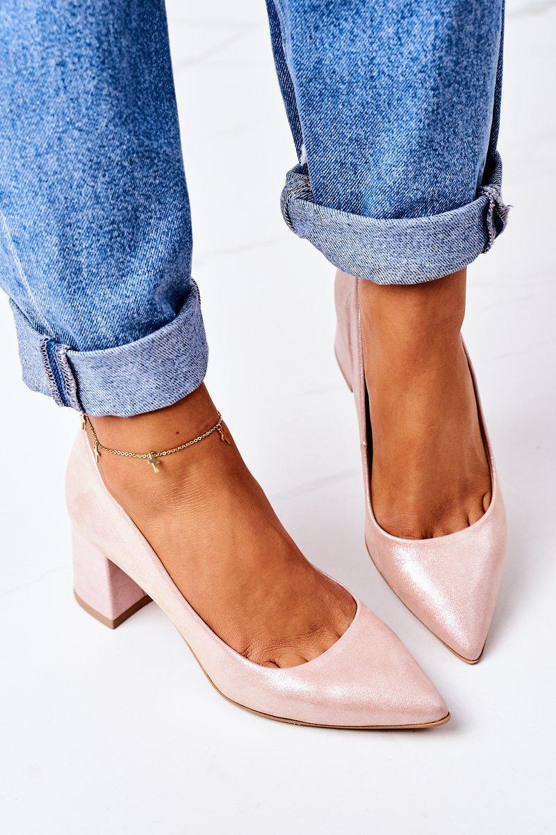 Satin Pumps Lewski Shoes 2801 Pink