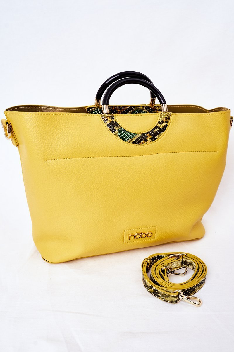 Shopper Handbag NOBO K3520 Yellow