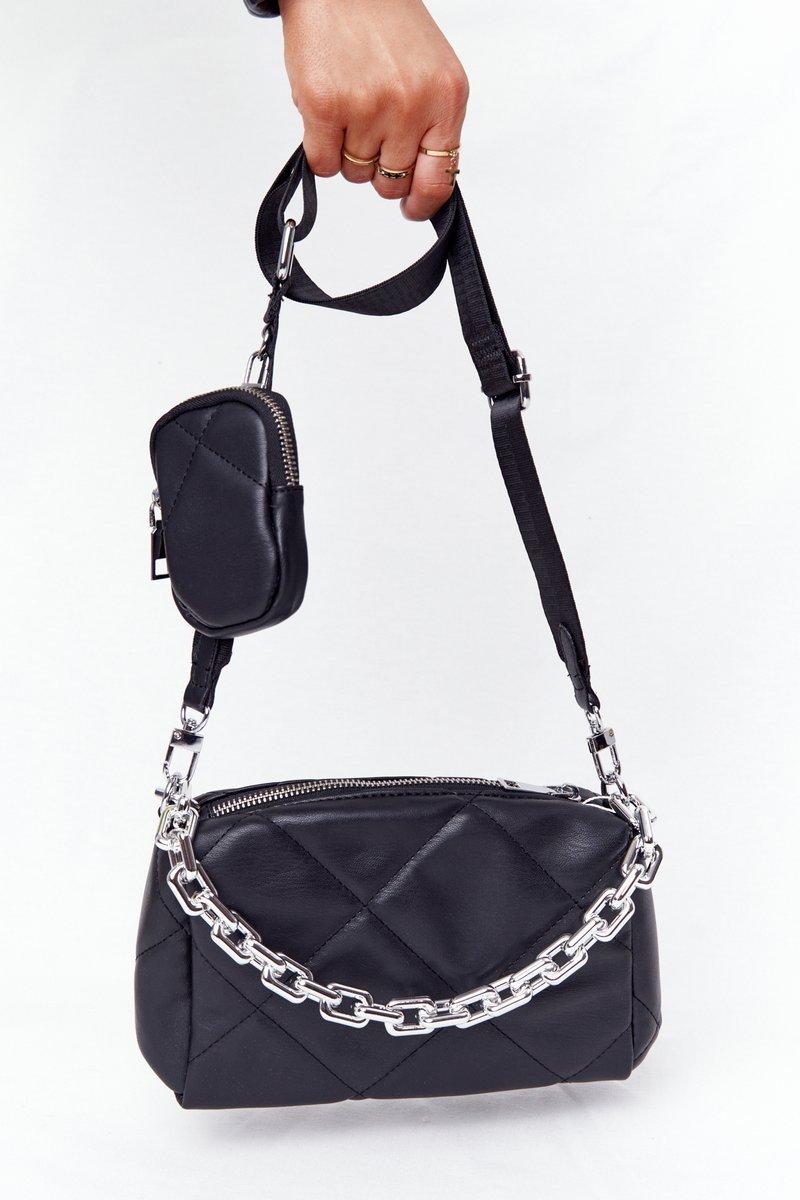 Small Shoulder Bag With A Sachet Barcelona Black