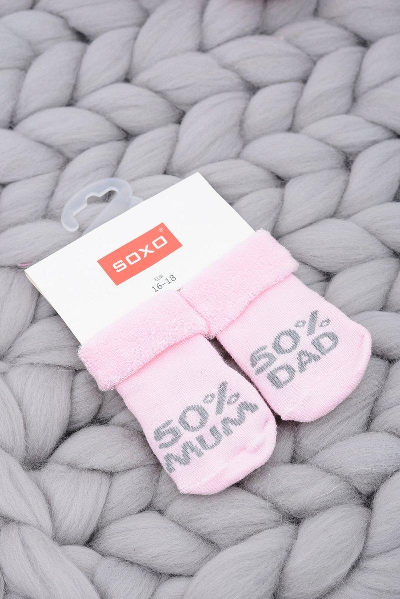 Soxo Baby Pink Socks 50% Mum Dad