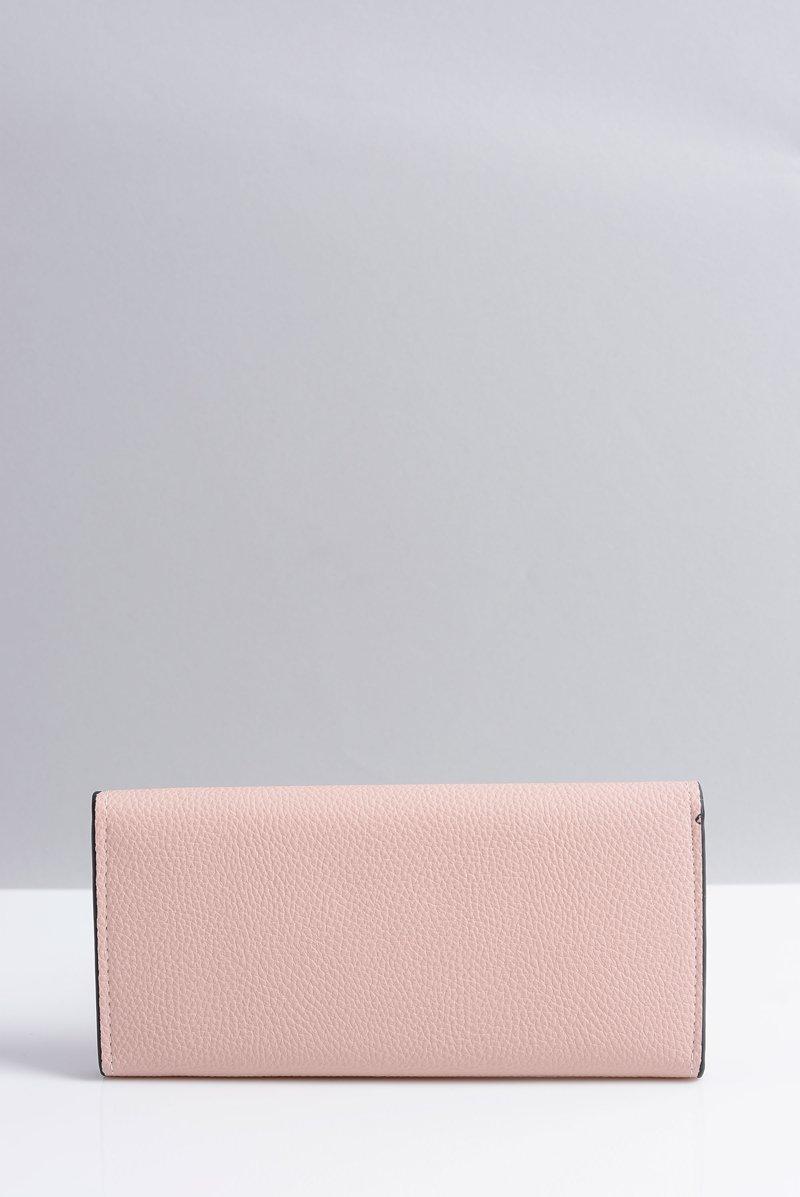 Stylowy Duży Różowy Portfel Damski