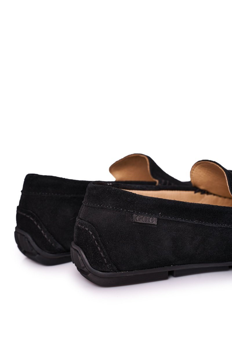 Suede Casual Loafers GOE HH1N4080 Black