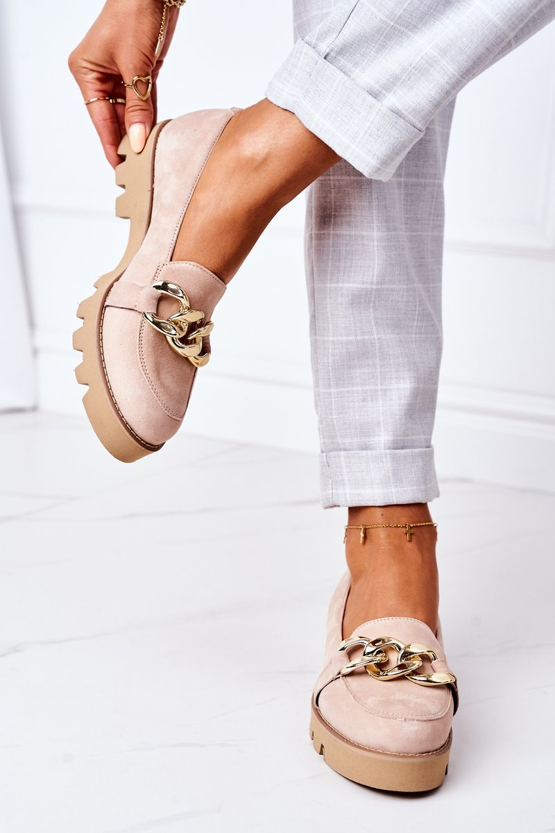 Suede Moccasins Lewski Shoes 3040 Cappuccino