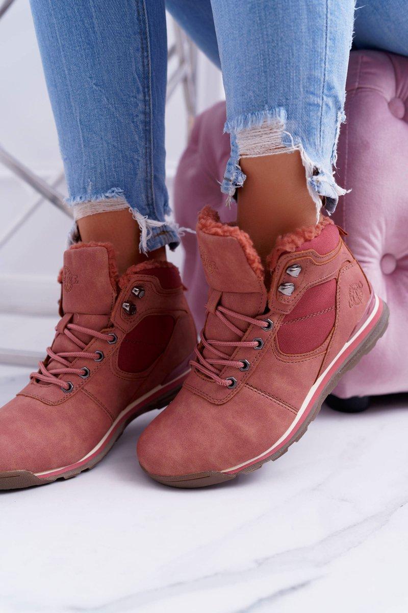 Trekking Women's Pink Insulated Boots Sheep