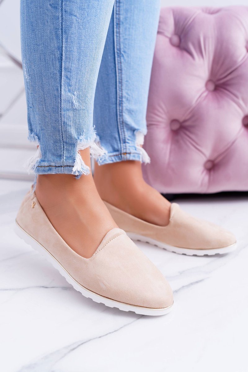 Vices | Beige Suede Ballerina Imany