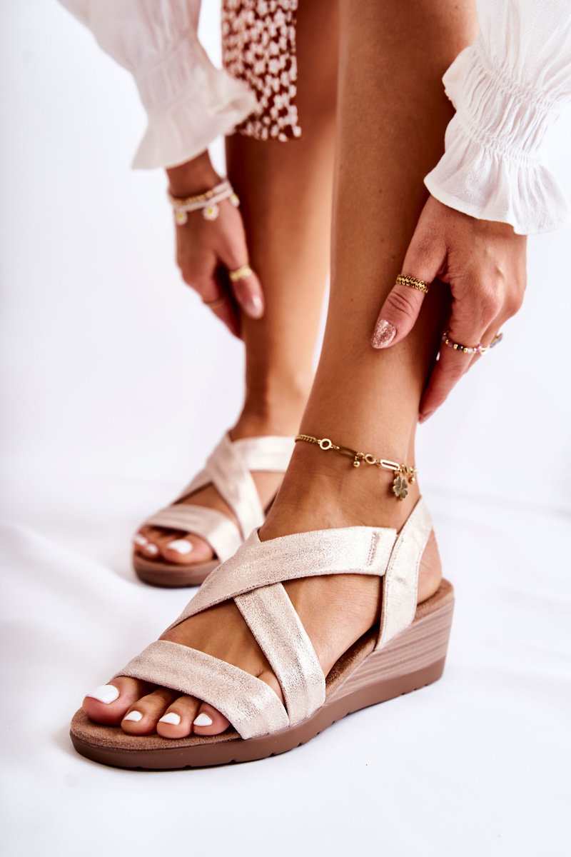 Wedge Sandals S.Barski BZY1A Beig-Gold