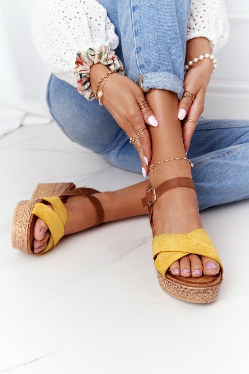 Wedge Sandals S.Barski GD-38 Yellow
