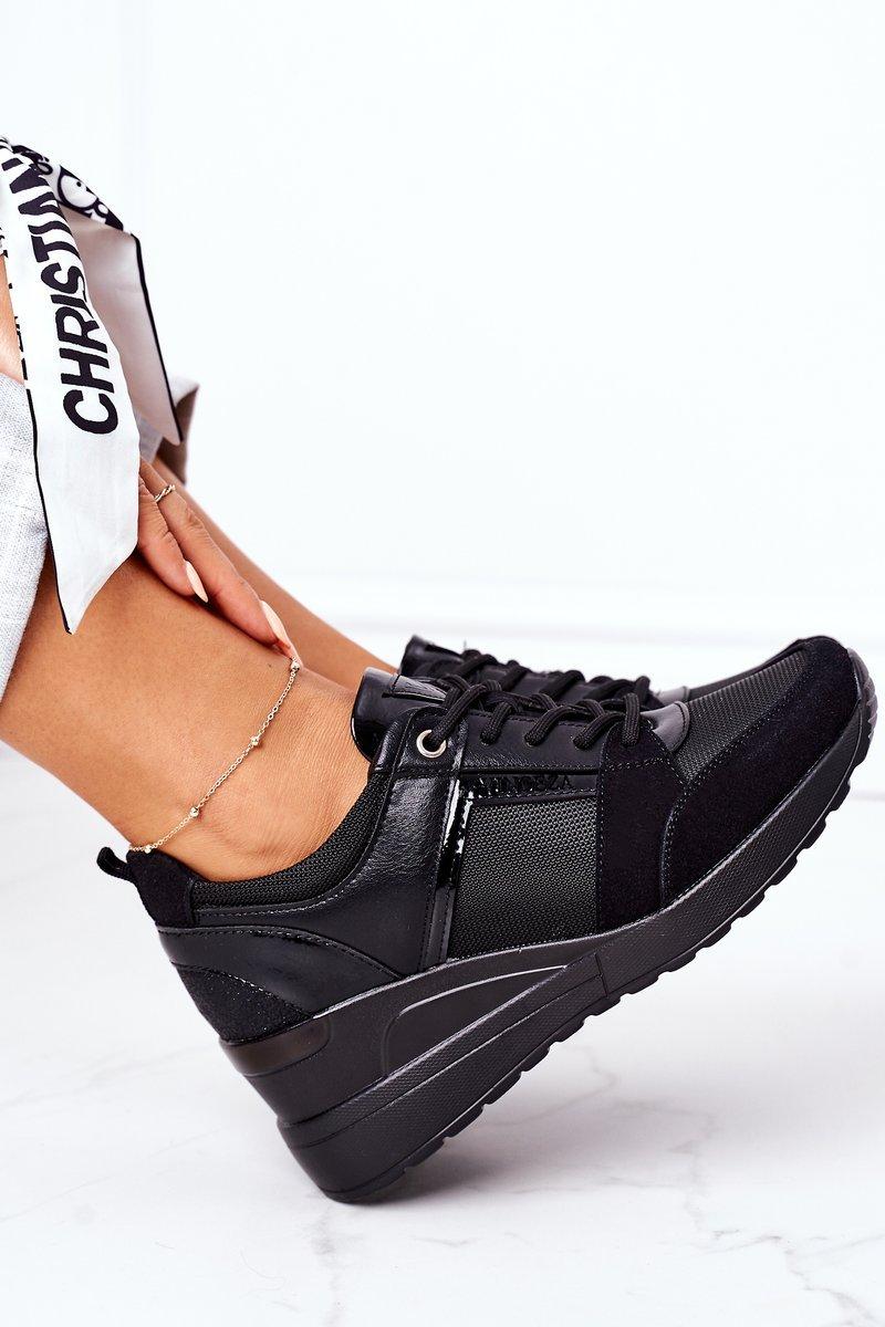 Wedge Sneakers Vinceza 10606 Black